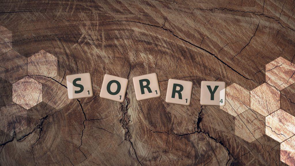 Service apology